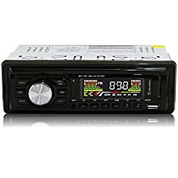 See Ezonetronics Car Audio LC0502 - Car FM MP3 MP4 Stereo Radio Receiver CD/DVD Player USB/SD Reader Details