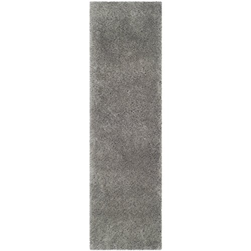 Safavieh Thom Filicia Collection TMF256S Hand-Knotted Silver Wool Runner, 2 feet 3 inches by 8 feet (2'3