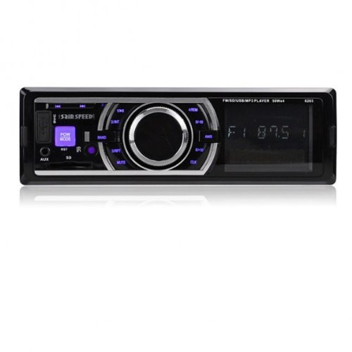 SainSpeed Car Audio Stereo In Dash Fm Receiver With Mp3 Player USB SD Input AUX Receiver Compatible with iphone itouch ipod ipad