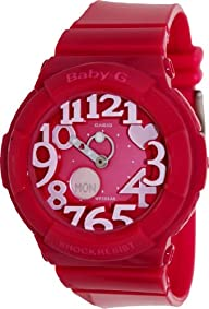 Casio Women's Baby-G BGA130-4B Pink Resin Quartz Watch with Pink Dial
