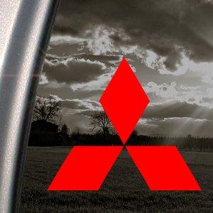 mitsubishi-diamante-rojo-adhesivo-coche-camion-ventana-rojo