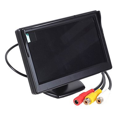 """Zcl 5.0"""" Tft Led Display Screen Car Rear-View Stand Security Monitor"""