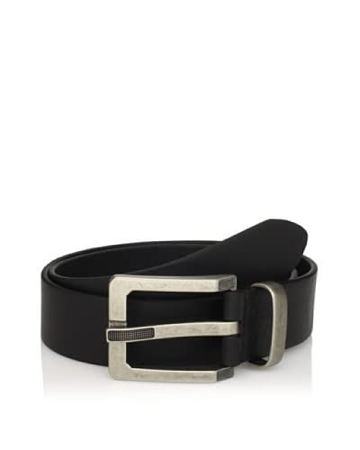 J.Campbell Los Angeles Men's Leather Belt with Textured Prong Buckle