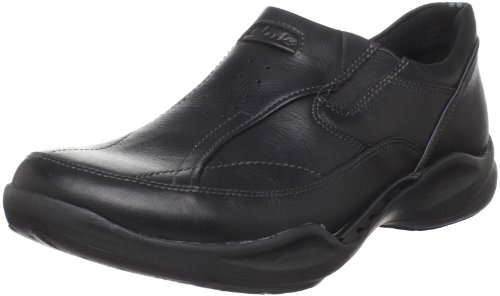 Clarks Men's Wave.Path Slip-On,Black Leather,10 M US