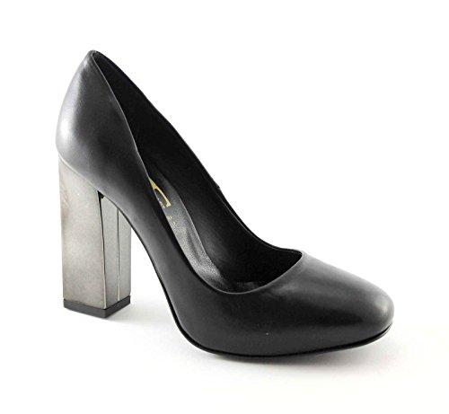 DIVINE FOLLIE A35-828 nero scarpe donna decolletè tacco specchio grosso 37