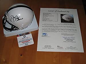 Joe Paterno signed Penn State Nittany Lions Coach NCAA Mini Helmet JSA LETTER by Riddell