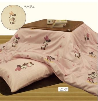 Mickey & Minnie Kotatsu (Japanese foot warmer) futon cover For 80-90cm Pink (Old Hollywood Movie Star Costumes)