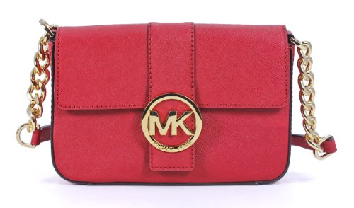 Michael Michael Kors Fulton Small Messenger Red Bag