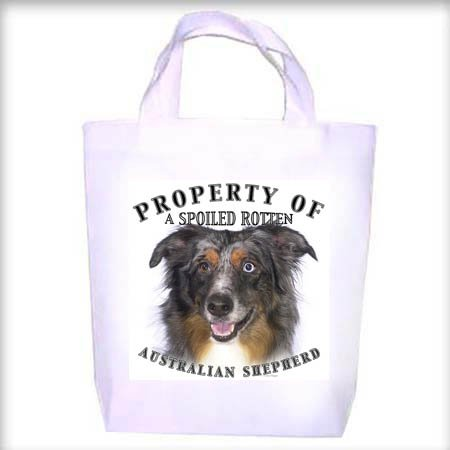 Australian Shepherd Property Shopping - Dog Toy - Tote Bag