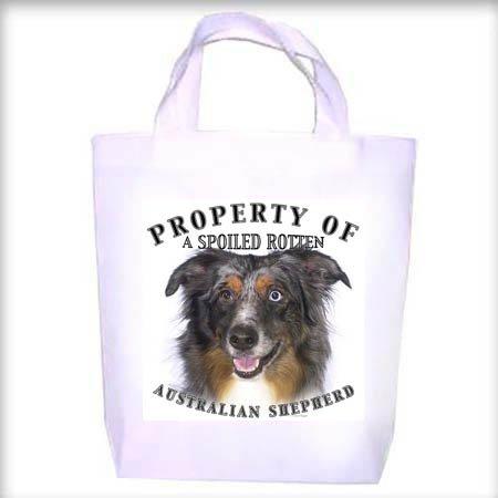Australian Shepherd Property Shopping - Dog Toy - Tote Bag