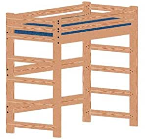 Plan (not a bed) or Bunk Bed Woodworking Plan to Build Your Own ...