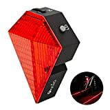 OxyLED® BTL-10 Rechargeable Bike Bicycle Cycling Safety Zone Tail Light, 8 Super Bright LED Taillights, 2 Red LaserWaterproof, 1000mAh Li-ion Battery,180°Adjustable Bracket, 220°Visibility (Color: red)