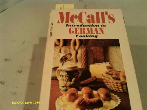 McCall's Introduction to German Cooking by edited by Linda Wolf
