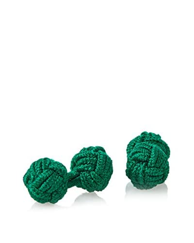 J. McLaughlin Men's Green Braided Silk Knot Cufflink