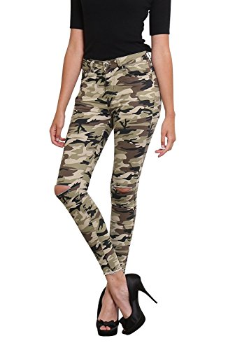 Toxik3 -  Jeans  - skinny - Donna camouflage green XL 46