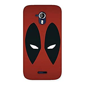 Special Red Dead Black Eye Back Case Cover for Micromax Canvas Magnus A117