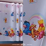 Disney voile net curtain WINNIE THE POOH ready made, width 63cm x drop 150cm