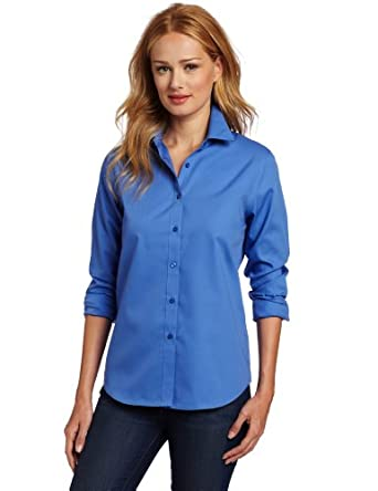 Jones new york women 39 s no iron easy care shirt at amazon women s clothing store button down shirts - How to unwrinkle your clothes with no iron ...