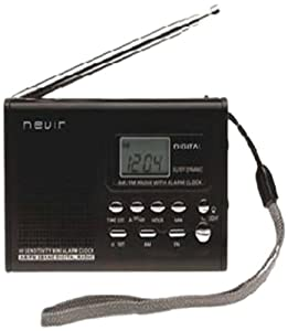 Nevir NVR-120 - Radio (Clock, Analógico, AM, FM, 1.2 W, LCD, Monocromo) Negro