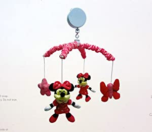 Disney minnie mouse musical mobile brahms lullaby nursery mobiles baby - Minnie mouse mobel ...