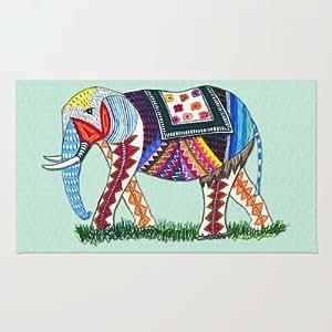 Amazon.com - Society6 - Hipster Elephant Rug by Eugenia Loli -