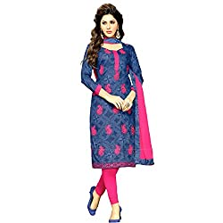 Mahati Women's Cotton Unstitched Dress Material(KIL 09-PK_Pink)