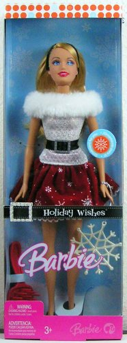 Holiday Wishes Barbie Doll (Old Barbies compare prices)