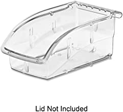 Akro-Mils InSight 305A3 Ultra Clear Supply Bin and Lid - Internal Dimensions 625quot Length x 313quo