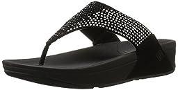 FitFlop Women\'s Flare Flip Flop,Black,9 M US