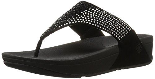 FitFlop Women's Flare Flip Flop,Black,8 M US (Fitflop compare prices)