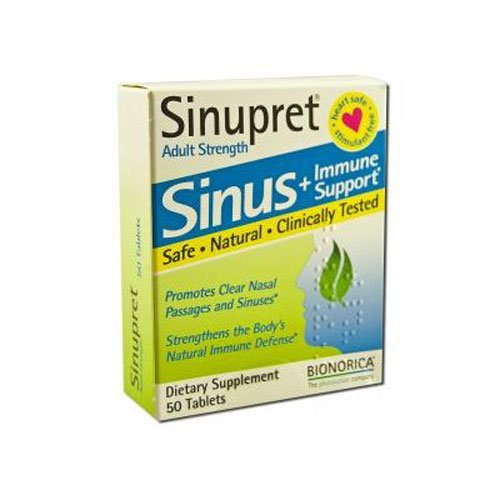 BIONORICA Adult Strength Sinupret Sinus + Immune
