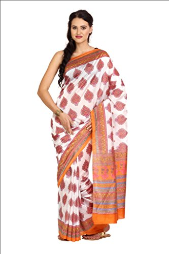 Parchayee Women Synthetic Sarees (93302 _White _Free Size)