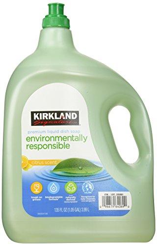 135oz Kirkland Eco Friendly Liquid Dish Soap Citrus Scent (1.05 Gallon Total)
