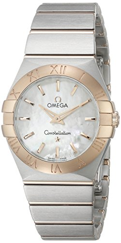 Omega Women's 12320276005001 Constellation Analog Display Swiss Quartz Two Tone Watch (Omega Gold Ladies compare prices)