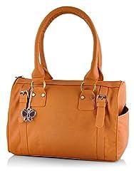 Butterflies Women's Handbag (Mustard) (BNS 0259 MSD)