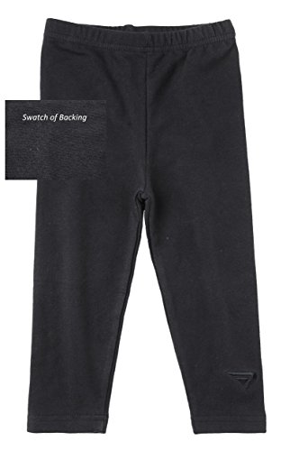 Sportoli® Baby Girls and Toddlers Cotton Blend Jersey Knit Solid Long Leggings - Black (Size 3T) (Boys Capri Pants compare prices)