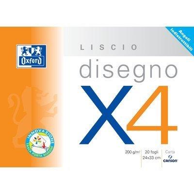 Canson 90043/100500452 Disegno X4, Ruvido, 33 x 48 cm, 224 G/Mq, 20 FF