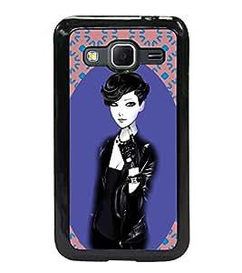 Printvisa 2D Printed Girly Designer back case cover for Samsung Galaxy Core Prime G360H- D4178