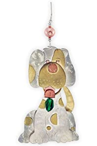 Pilgrim Imports Wilfred the Dog Metal Fair Trade Ornament