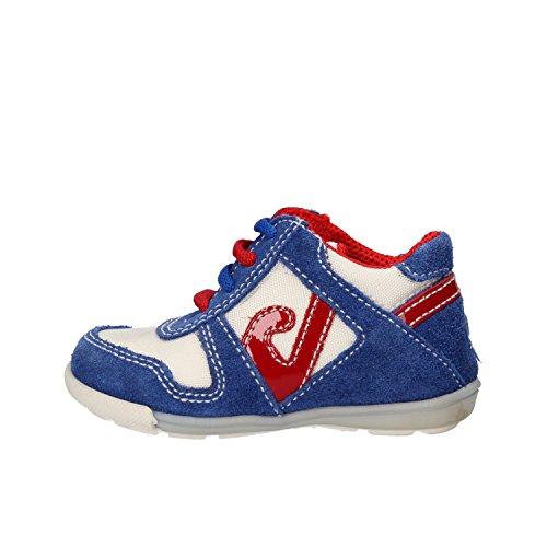 BALDUCCI sneakers bambino 19 EU blu bianco camoscio tessuto AG937-B