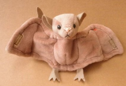 TY Beanie Babies Batty the Bat Plush Toy Stuffed Animal - 1