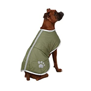Zack & Zoey Polyester Nor'easter Dog Blanket Coat, X-Large, Chive