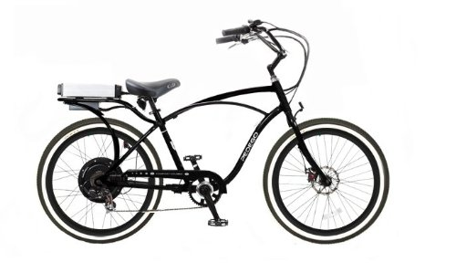 Pedego Comfort Cruiser Classic Electric Bike with Black Rims Whitewall Tires