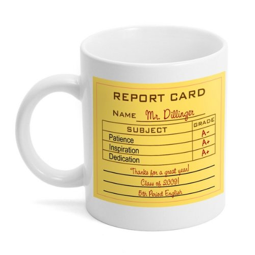 Teacher Report Card Mug