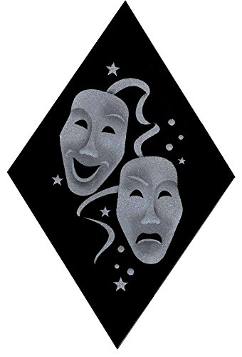 Theater Masks Comedy and Tragedy Decorative Sun Catcher