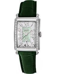 Cheap Price Gevril Women's 7246NE.6 Green Mother-of-Pearl Genuine Alligator Strap Watch Deals