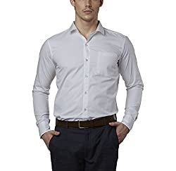 Lisova Men's Formal Shirt (LI/SHRT/079_White_XX-Large)