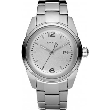 DKNY Mens Watch NY1447 with Silver Dial and Silver Stainless Steel Bracelet