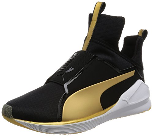 Puma Fierce Gold Sneaker, Nero (Schwarz (puma BLACK-GOLD 02)), 39