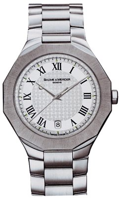 Baume & Mercier Riviera Mens White Dial Stainless Steel Watch 8467 - Buy Baume & Mercier Riviera Mens White Dial Stainless Steel Watch 8467 - Purchase Baume & Mercier Riviera Mens White Dial Stainless Steel Watch 8467 (Baume & Mercier, Jewelry, Categories, Watches, Men's Watches, Dress Watches)